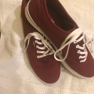 Vans Shoes - Burgundy Vans size 8.5 regular